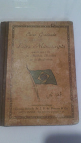 Livro Antigo Curso Graduado Letras Manuscripta