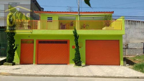 Imagem 1 de 12 de Casa Com 2 Dormitórios À Venda, 240 M² Por R$ 450.000,00 - Recreio Das Palmas - Suzano/sp - Ca0281