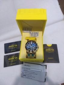 Relógio Invicta 100%original Pro Diver 0072 B. A Ouro 18k
