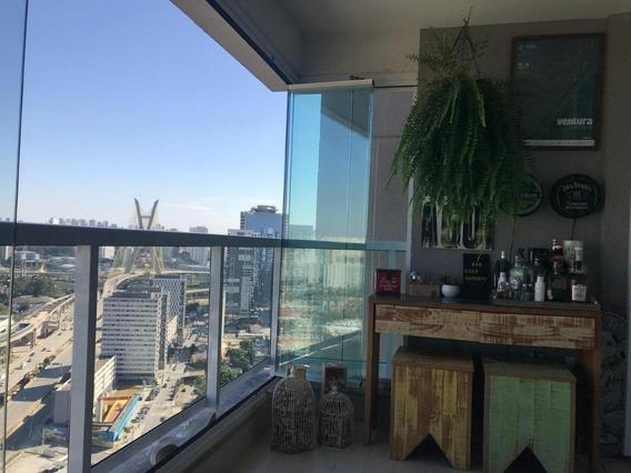 Apartamento Em Brooklin Paulista, São Paulo/sp De 47m² 1 Quartos À Venda Por R$ 550.000,00 - Ap190232