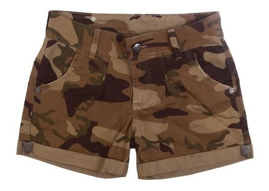 Bermuda Shorts Camuflado Feminino Fox Boy - Desert Brow