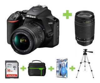 Camara Nikon D3500 +32gb+bolso+70-300+tripode+kit Limpieza