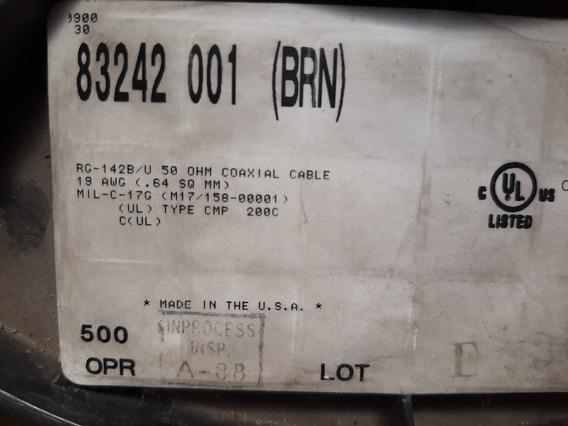 Cable Coaxil Belden Rg 142 B/u 50 Ohm -teflón 19 Awg X Metro