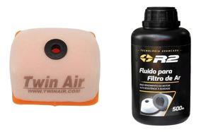 Filtro De Ar Crf 230 Twin Air + Oleo De Filtro R2 500ml