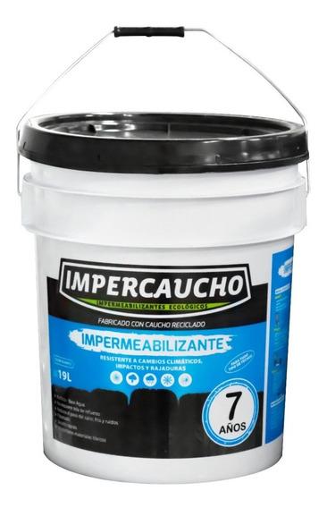 Impercaucho Impermeabilizante Cubeta 7 Años Color Blanco 19 Litros