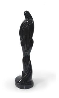 Estatuilla 50cm Negra Cerámica Haeger #300 Vintage Retro