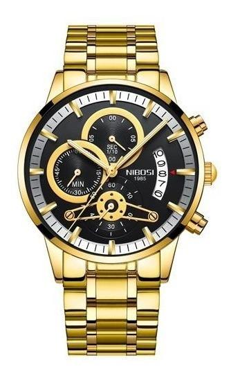 Relógios Masculinos Nibosi Blindado Anti-risco Frente Gratis