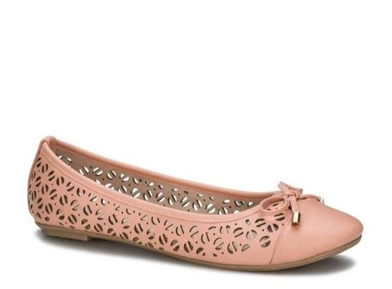 Zapato Dama Flat Ballerina Comodos Moño Decorativo