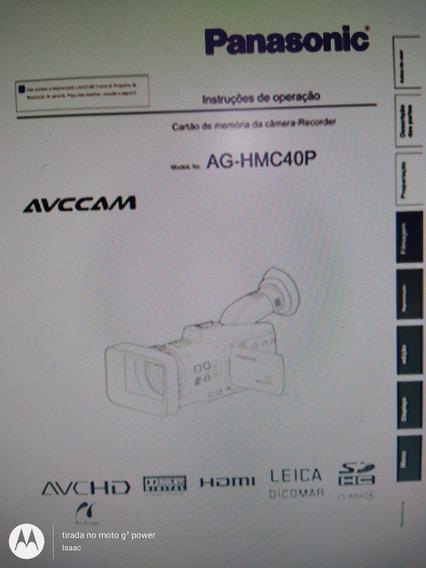 Manual Filmadora Panasonic Ag-hmc40p Português