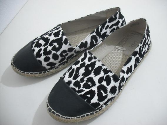 Sapato Sapatilha Preto Branco Oncinha 40 Rubi Bom Estado