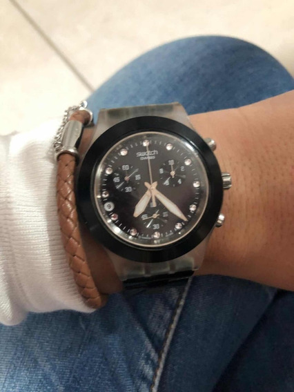 Relógio Swatch Full Blooded Preto Svck4032g