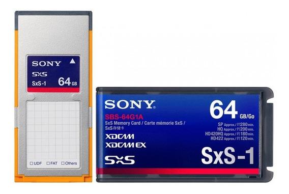 Cartão De Memória Sony 64gb Sxs-1 (sbs-64g1a)