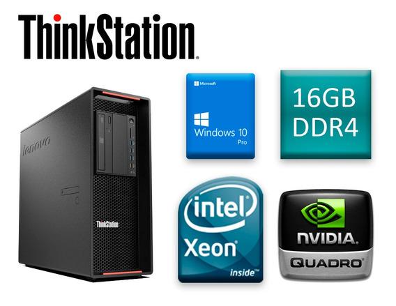 Cpu Lenovo Thinkstation P500 Xeon E5-1620 V3 16 Ddr4 2 Hd 1t