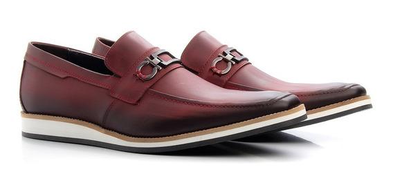 Sapato Masculino Esporte Fino Sola Oxford Couro Casual Couro