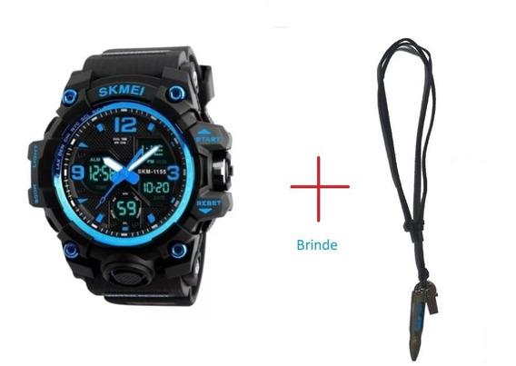 Relógio Skmei 1155b Digital Analogico G -shock + Brinde