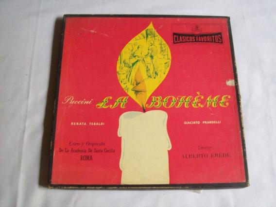 Caja Conteniendo 2 Lps . Puccini *la Bohéme* Opera Completa