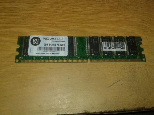 Memoria Ram Novatech 512 Mb Pc3200 Precio Unitario