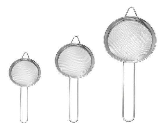 Set X 3 Colador Malla Alambre Metalico Para Cocina Varios 3