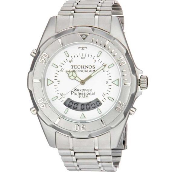 Relógio Technos Masculino Skydiver Fundo Branco T20557/3b