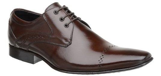 Sapato Social Masculino Malbork Em Couro Marrom