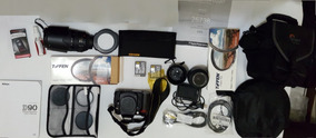 Câmera Nikon D90 Pouco Usada Kit Fotografia
