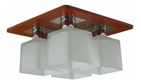 Plafon Alto Luxo 4 Cúpulas Em Vidro - Produto Importado 30cm