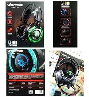 Atacado 5 Headset Fone Gamer Microfone Marca Verde Ej-009