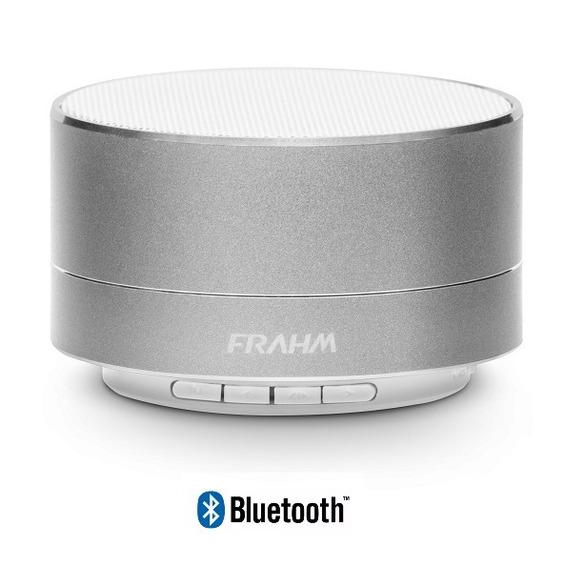 Caixa De Som Bluetooth Portátil A10 Alumínio Prata Frahm