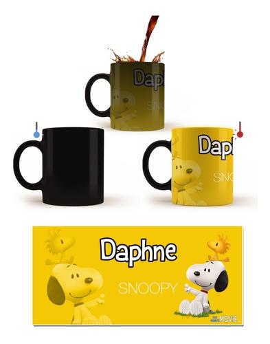 Imagen 1 de 1 de Taza Mágica Snoopy, Personalizada.