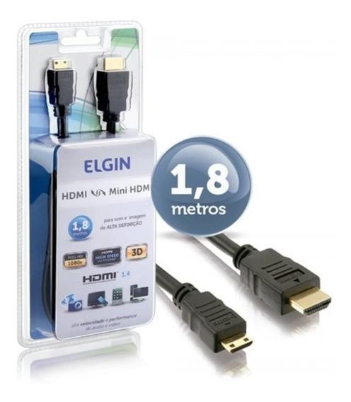 Cabo Hdmi Para Minihdmi Elgin 1,8 Metro Versão 1.4 3d