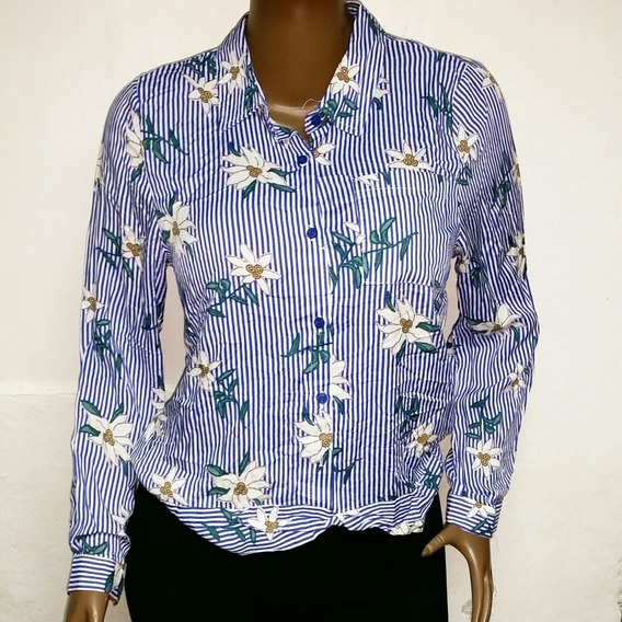 Camisa Blusa Para Dama Manga Larga Botones