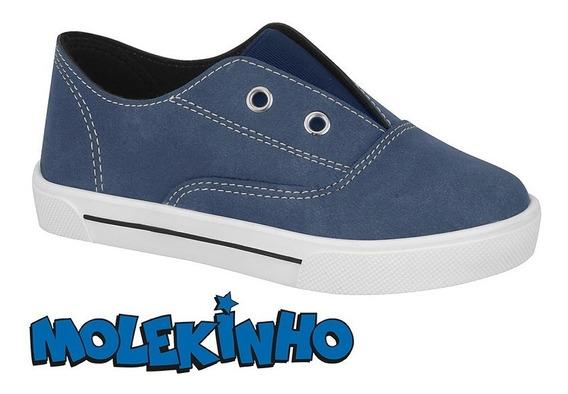 Tênis Infantil Molekinho 2133.217 12133 Azul Jeans