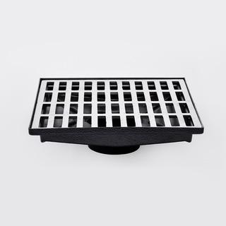 Ralo Pluvial 30x30 Com Caixa Coletora Saída Baixa - Aluminio