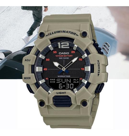 Relógio Casio Standard Masculino Hdc-700-3a3vdf Caqui