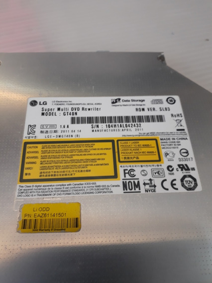 Drive Leitor Dvd/cd Para Notebook Lg C400 - Model Gt40n