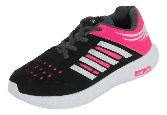 Tênis Feminino Infantil Esportivo Zeus Para Menina Oferta