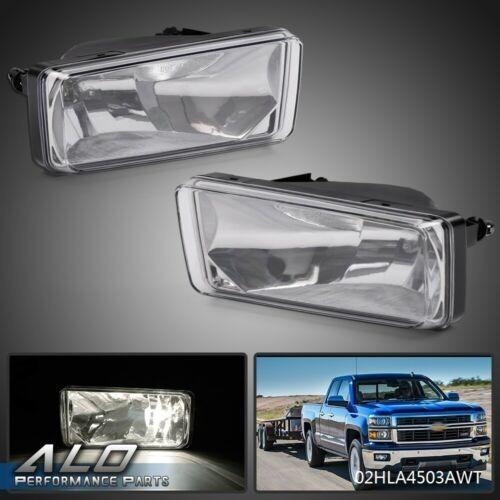 For 07-13 Chevy Silverado 1500 2500 HD Tahoe Clear Bumper Fog Light Lamps PAIR