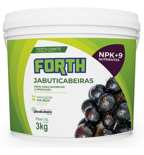 Imagem 1 de 7 de 3kg Forth Jabuticabeiras Adubo Fertilizante Jabuticaba