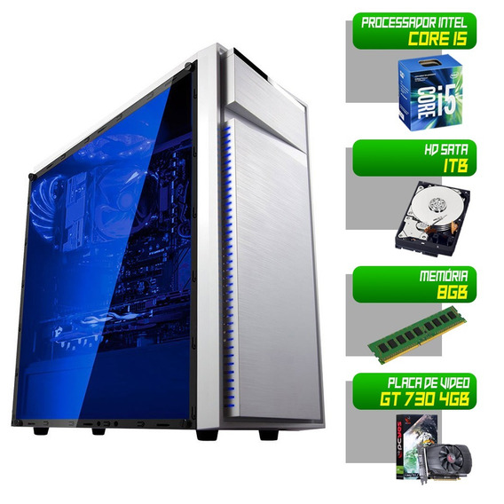 Computador Desktop Gamer 1155 I5 3470 8gb Hd 1tb Gt730 4gb