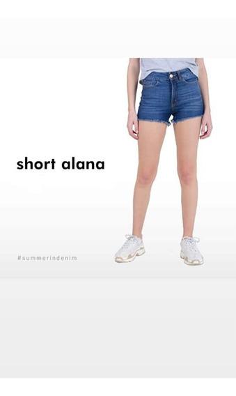 Short Jean Sisa Denim Alana Mujer