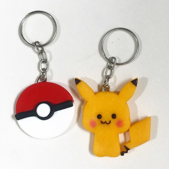 Kit 4 Chaveiros - Pokemon