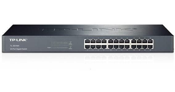 Switch Rackeable Tp-link Tl-sg1024 Gigabit 24 Puertos Bocas