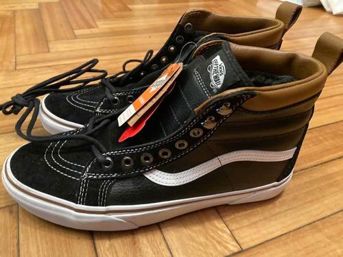 Vans Sk8 Hi Mte Leather Black/ White Nuevas Talle 9,5 Usa