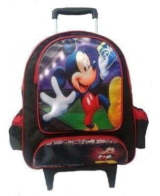 Mochila Escolar Infantil Rodinhas Mickey Mouse