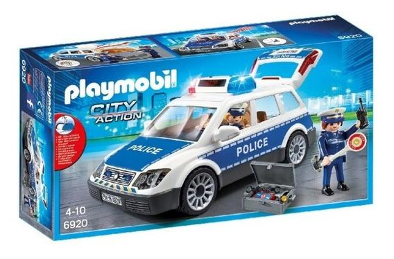 Playmobil - Auto Policía Con Luces Y Sonido