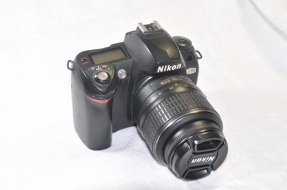 Máquina Prof. Nikon D-70 Lente 18-55mm Frete Grátis