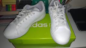 Tênis adidas Neo - Couro Branco Usado 1 Vez, Nº. 37- Unissex