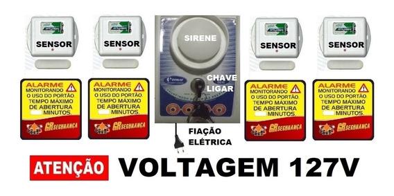 Alarme Anunciador Porta Aberta Sem Fio 4 Sensores E Adesivo