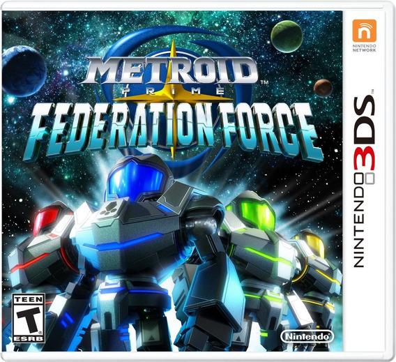 Metroid Prime Federation Force Nintendo 3ds Original Novo