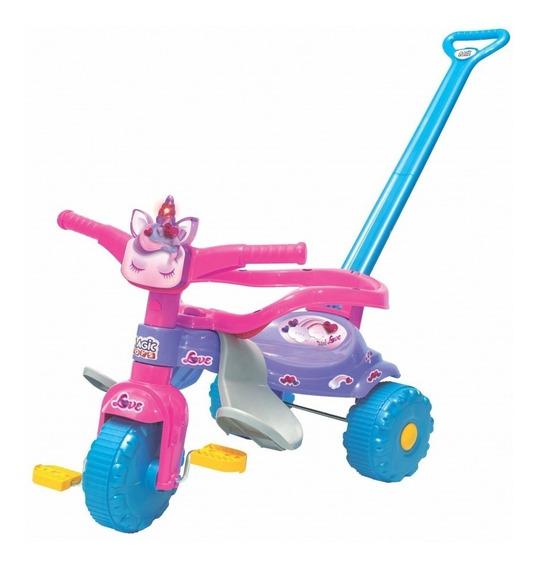 Triciclo Motoca Infantil Tico Tico Unicornio Com Luz 2570